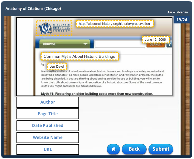 Articulate Storyline Information Literacy Modules By Marquette